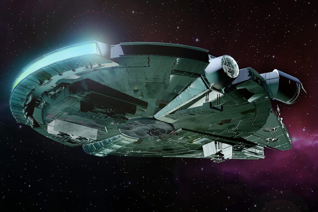 loď milenium falcon - Han Solo a Chewbacca