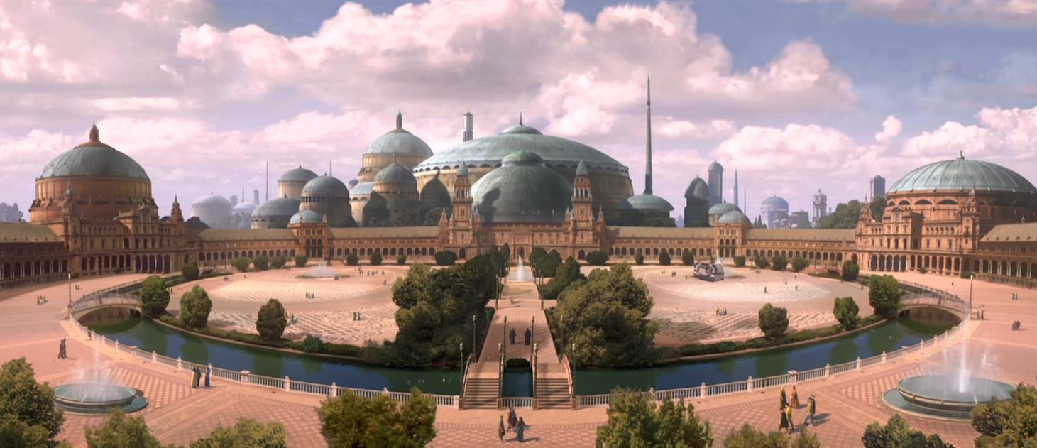 planéta naboo - architektúra