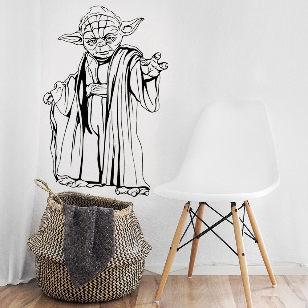 nálepka na stenu - yoda