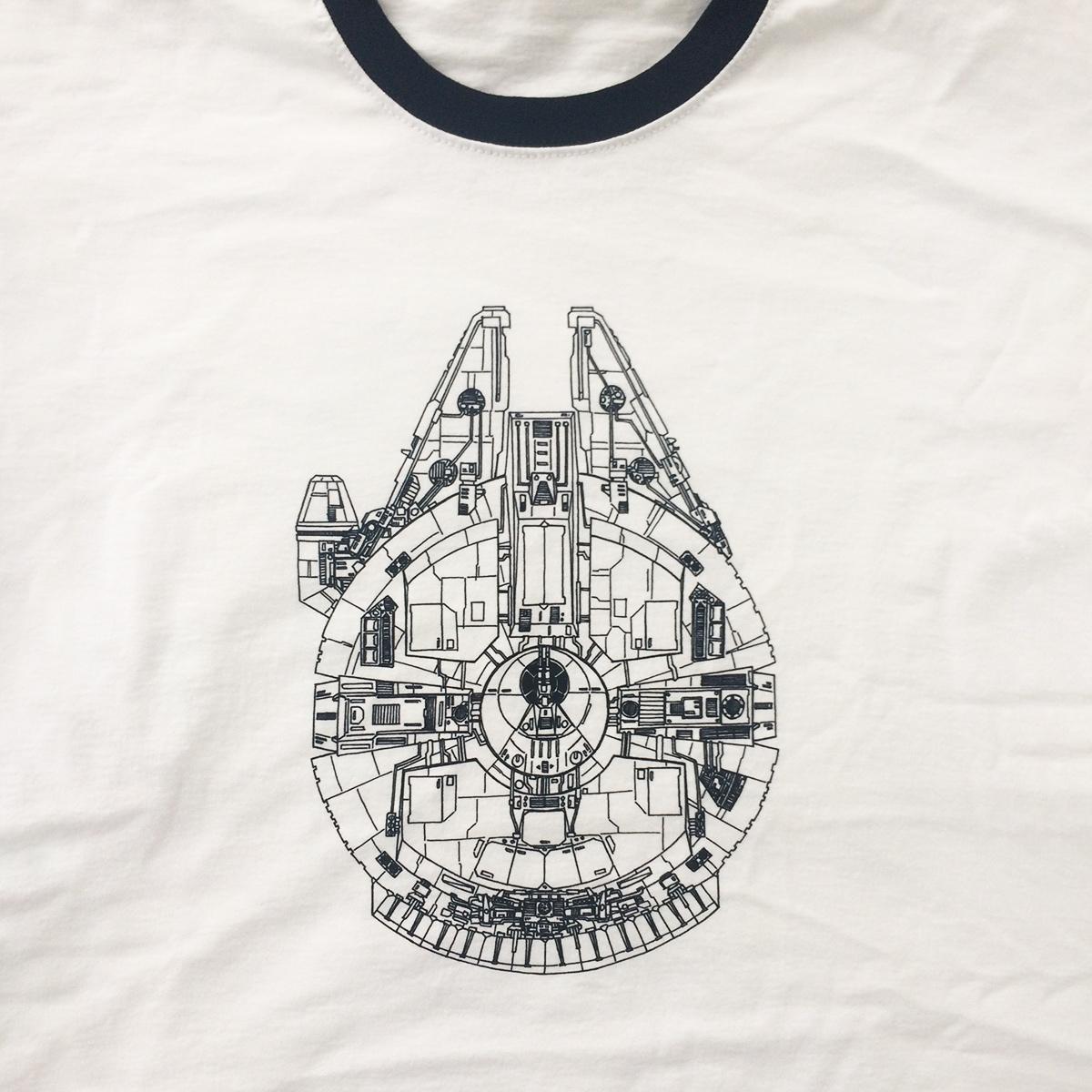 tričko millenium falcon