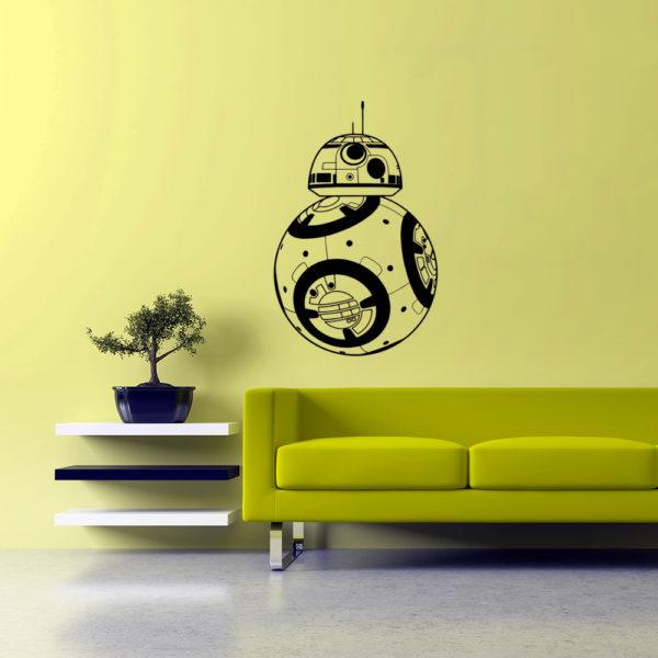 Nálepka na stenu BB8 - čierna